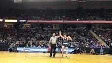 Hauppauge's Dan Mauriello defeated Niagara Wheatfield's Warren McDougald