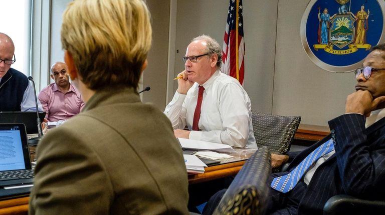 Chief executive Howard Zemsky presides at a meeting