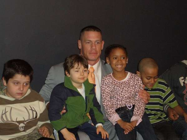 WWE superstar John Cena met with young fans
