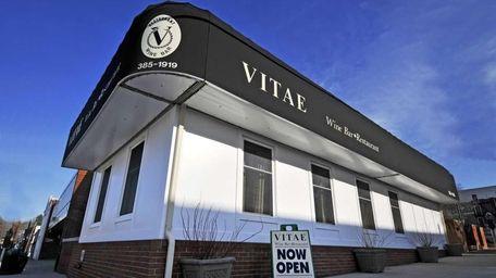 The exterior of Vitae Wine Bar & Restaurant,