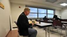 United States Army veteran Chuck Taylor prepares to