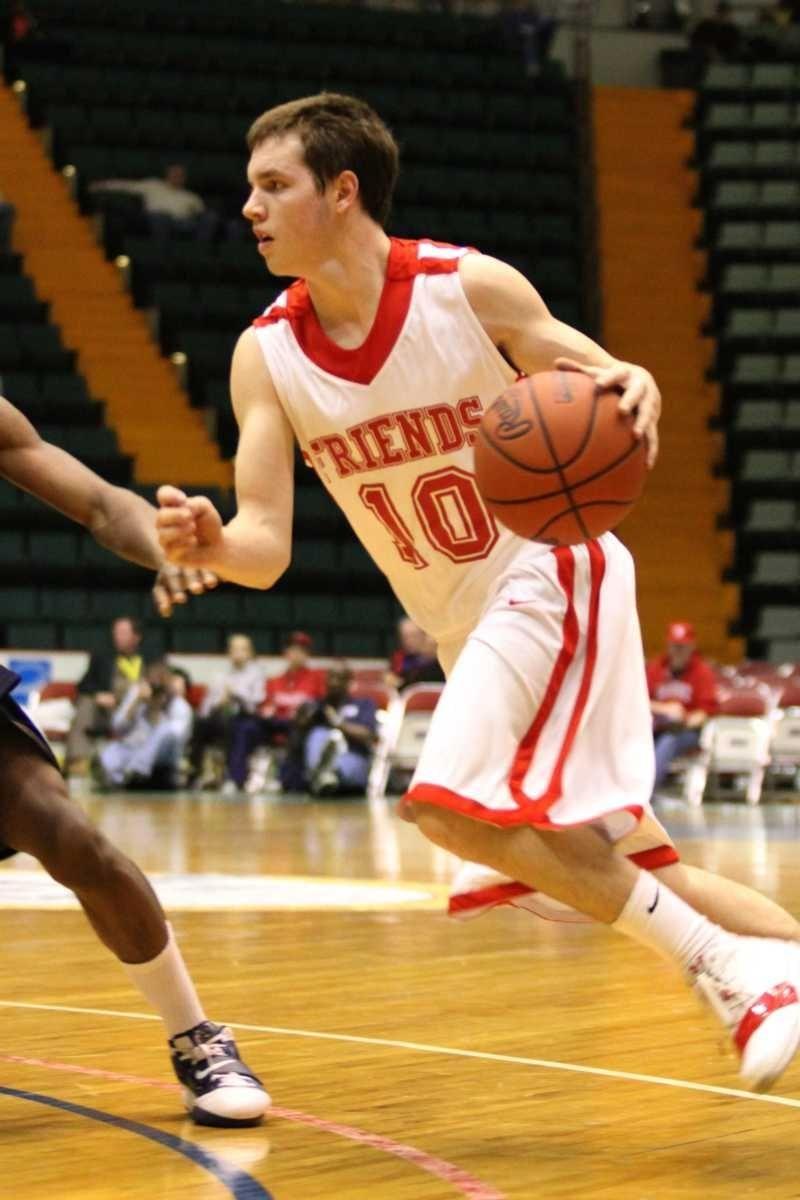 Friends Academy's T.J. Hefele drives to the basket