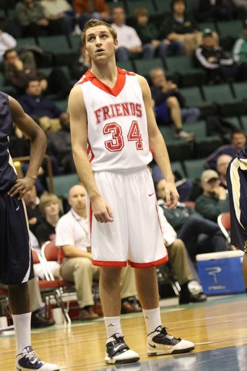Friends Academy's Bennett Felder watches a foul shot