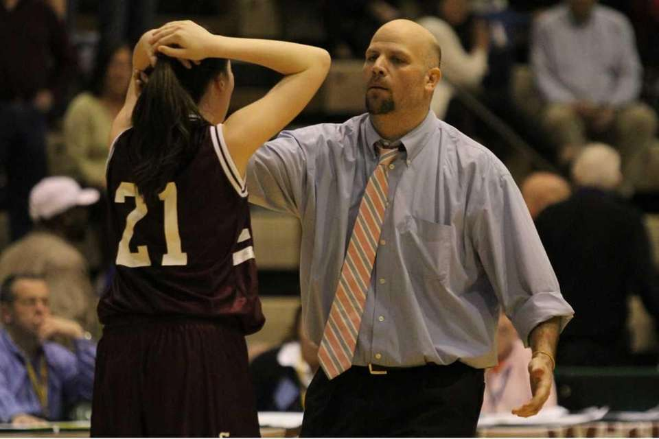 Garden City coach Anthony Sparcia reacts to Katie
