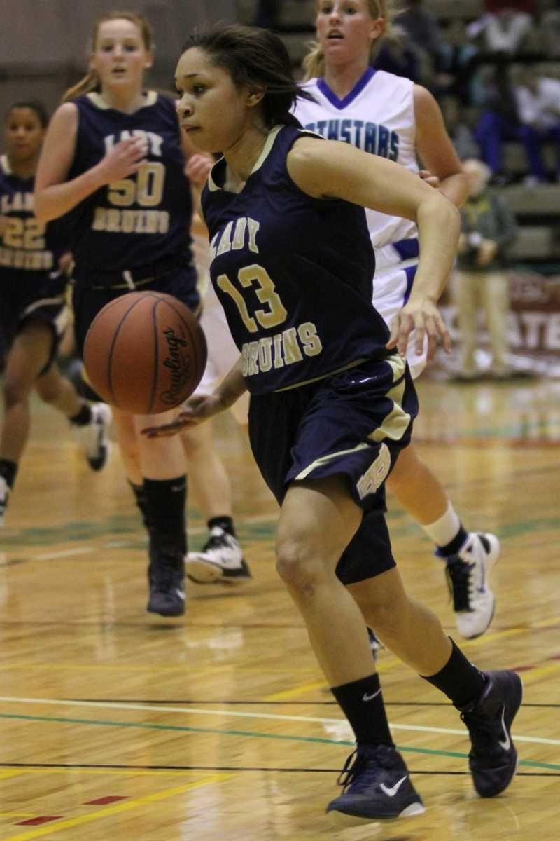 Baldwin's Keira Corbin brings the ball up court