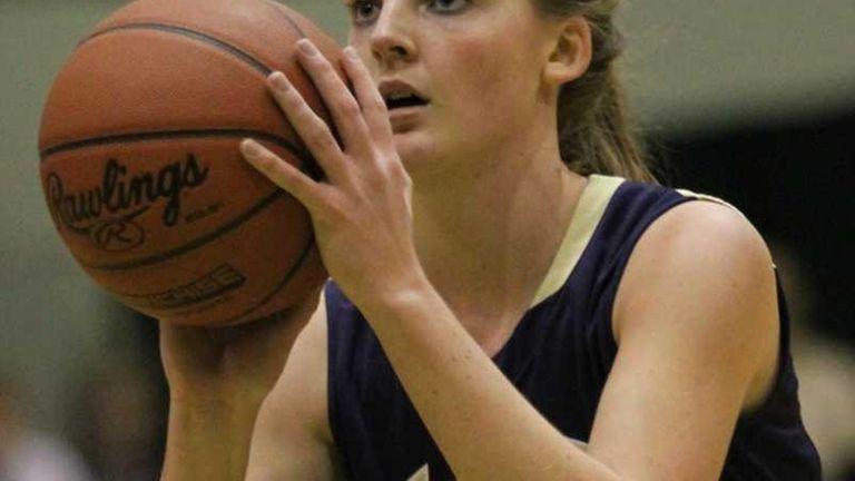 Baldwin's Katie Greene shoots a free throw during