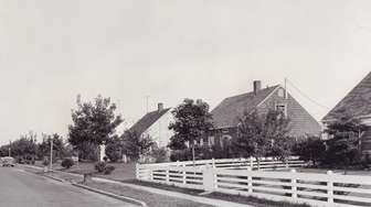 Houses on Butternut Lane in Levittown are pictured