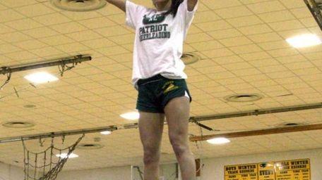 Rachael Rodomista, 13, of Stony Brook, takes part