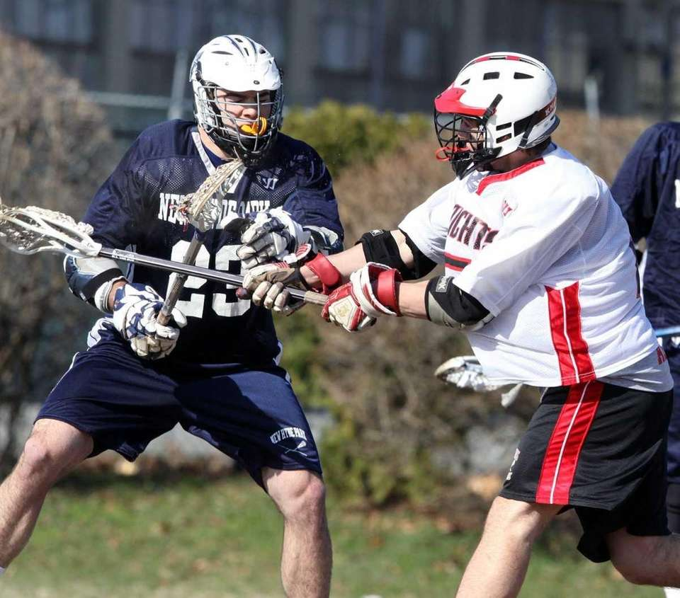Floral Park's Andrew Viola, right, scores as New