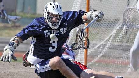 New Hyde Park's Vincent Valente loses the ball
