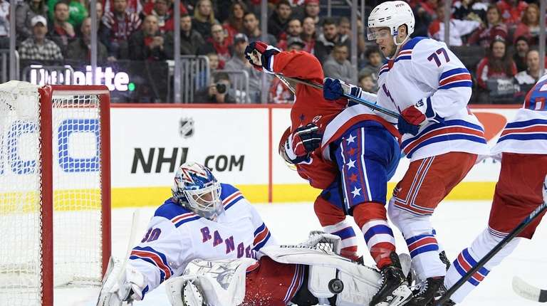 Rangers goaltender Henrik Lundqvist (30) and defenseman Tony