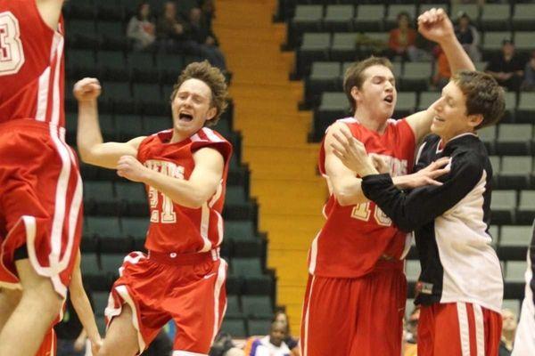 Friends Academy celebrates their win over Syracuse Academy