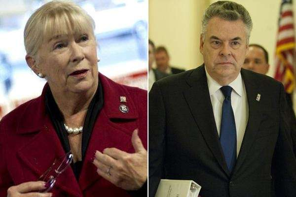 Rep. Carolyn McCarthy and Rep. Peter King.