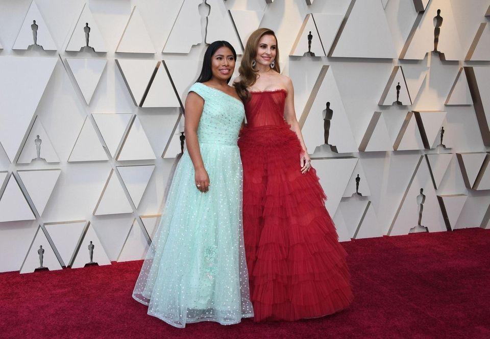 "Best Actress nominee for ""Roma"" Yalitza Aparicio (L)"