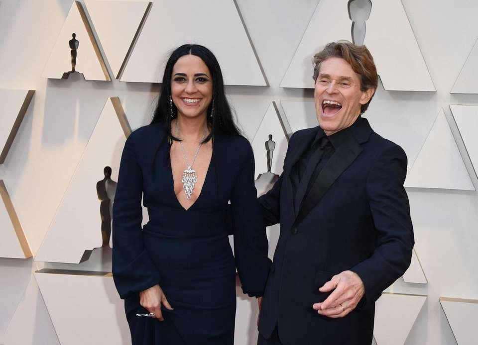 Willem Dafoe and his wife Giada Colagrande arrive