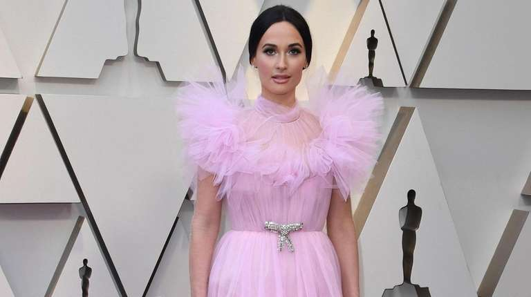 US singer Kacey Musgraves arrives for the 91st