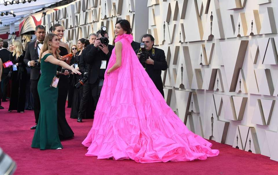 Actress Gemma Chan arrives for the 91st Annual