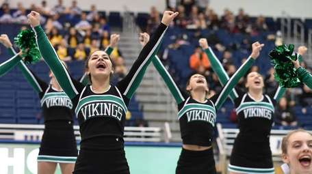 Seaford performs during the Nassau cheerleading championships at