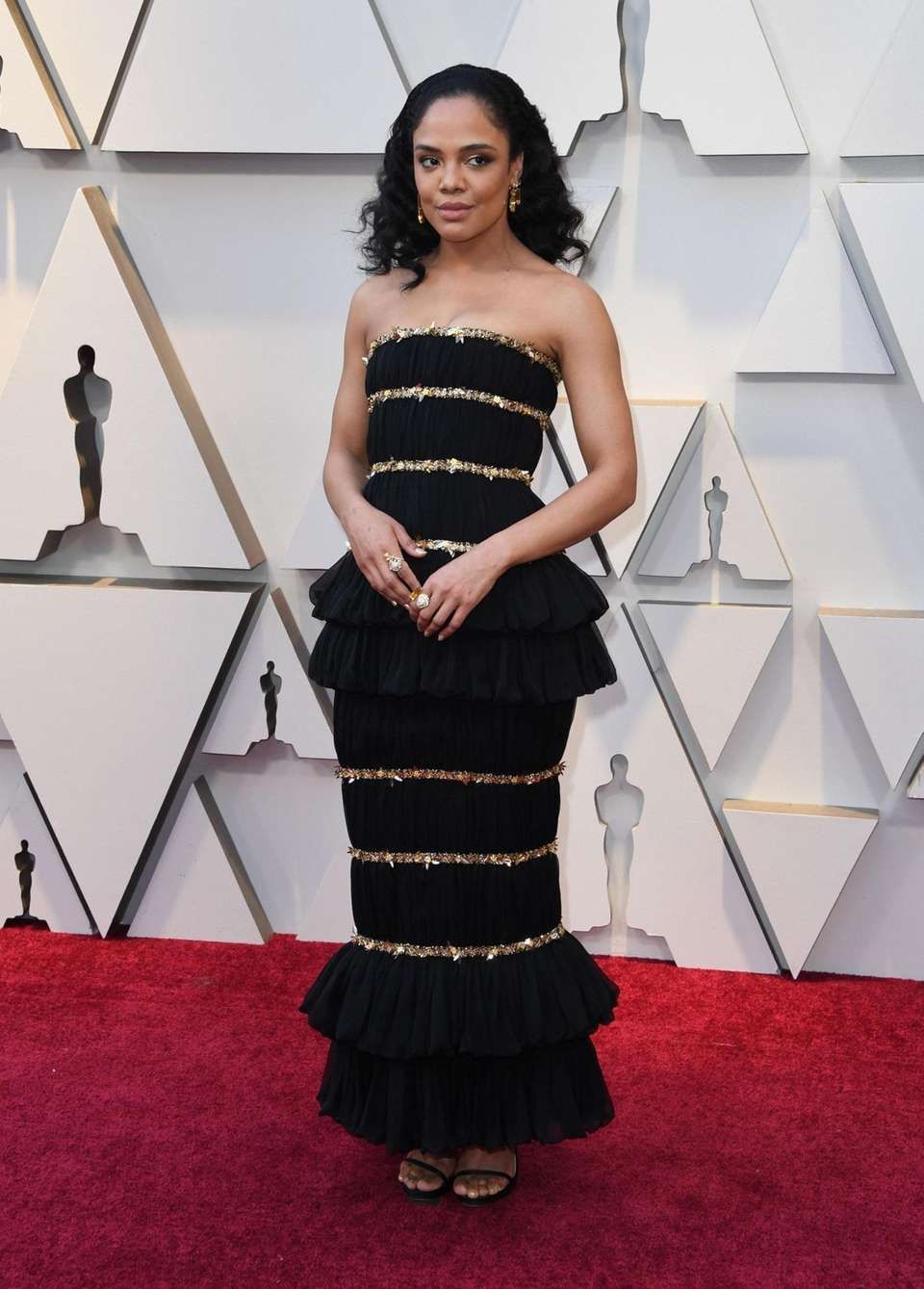Actress Tessa Thompson arrives for the 91st Annual