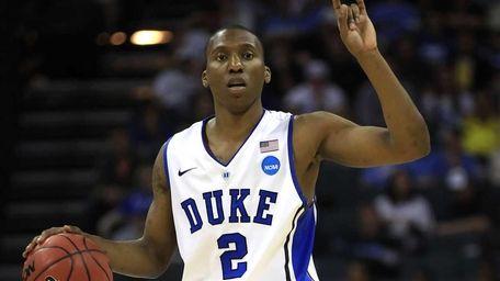 Duke's Nolan Smith calls a play in the