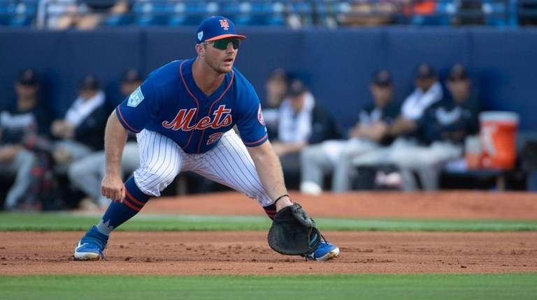 Mets' Pete Alonso during a spring training game