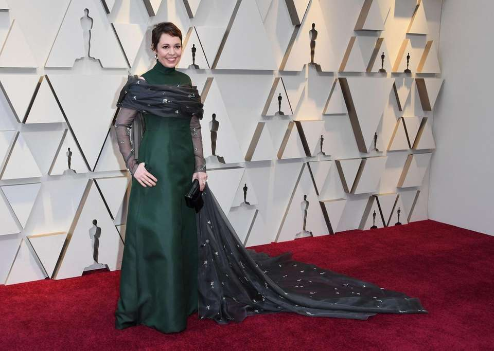 """Best Actress nominee for """"The Favourite"""" Olivia Colman"""