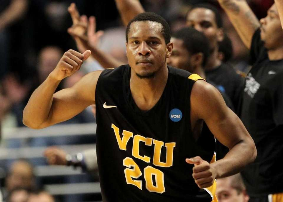 VCU's Bradford Burgess celebrates in the second half