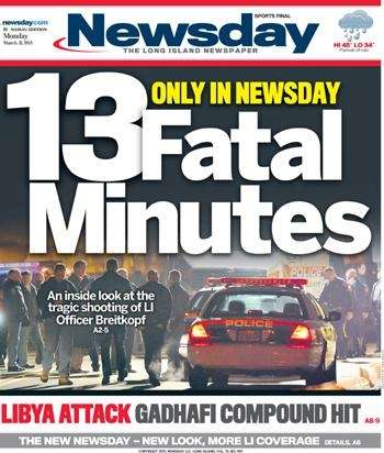 Newsday unveiled its new look on March 21,