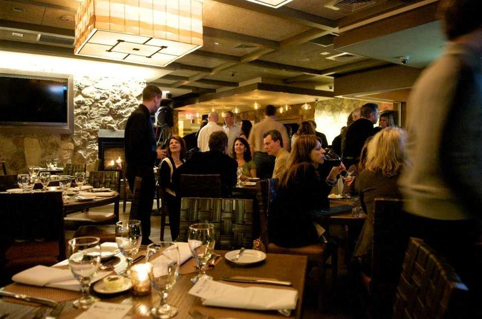 The dining room at Bistro 72 in Riverhead
