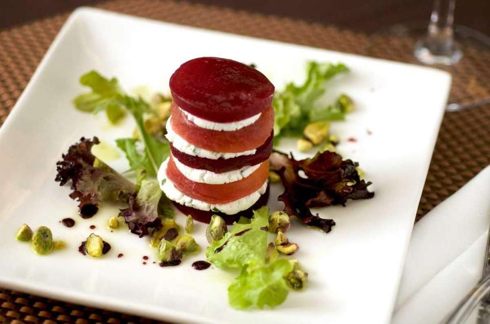 Bistro 72 in Riverhead offers a beet Napoleon