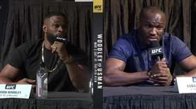UFC welterweight champion Tyron Woodley and challenger Kamara