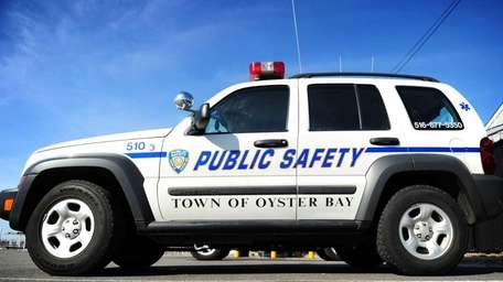 An Oyster Bay Public Safety vehicle parked at