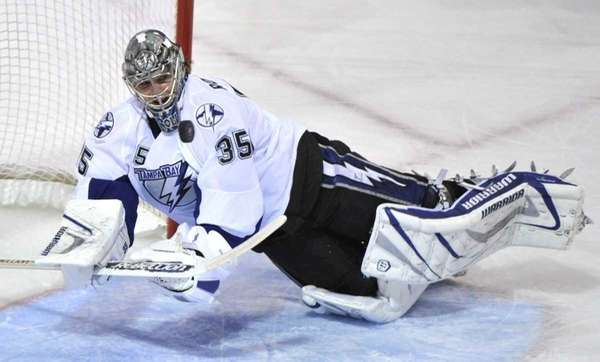 Former Islander and current Tampa Bay Lightning goaltender