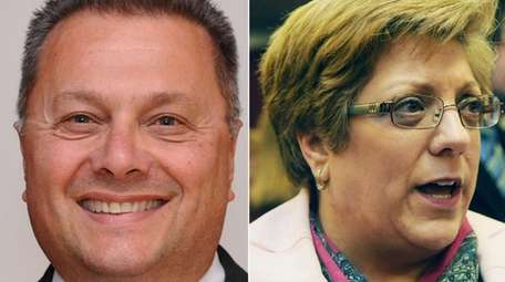 Democrat Cheryl Felice, right, will challenge Republican Brookhaven