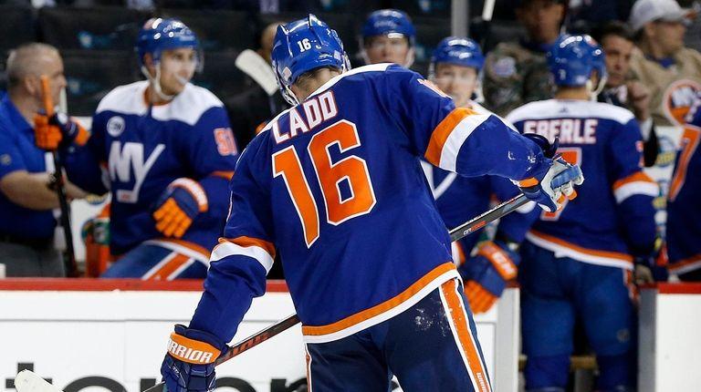 Andrew Ladd  of the New York Islanders