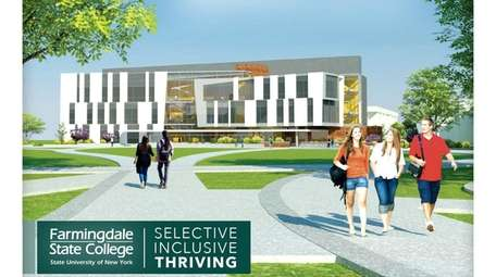 A rendering of Farmingdale State College proposes new