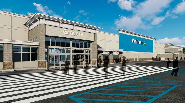 The 197,000-square-foot Walmart Supercenter proposed for Yaphank would