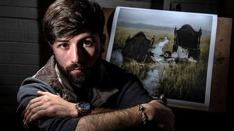 Northport artist Nicolas Bruno, seen at his home