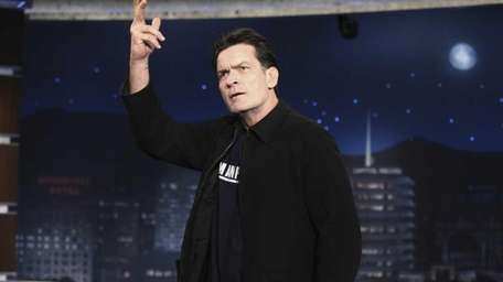 Actor Charlie Sheen during a visit to