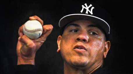 Yankees reliever Dellin Betances throws a bullpen session