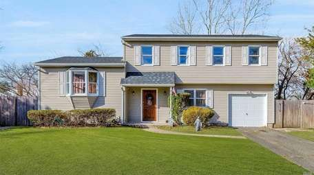 This Farmingville Colonial is listed for $379,999.