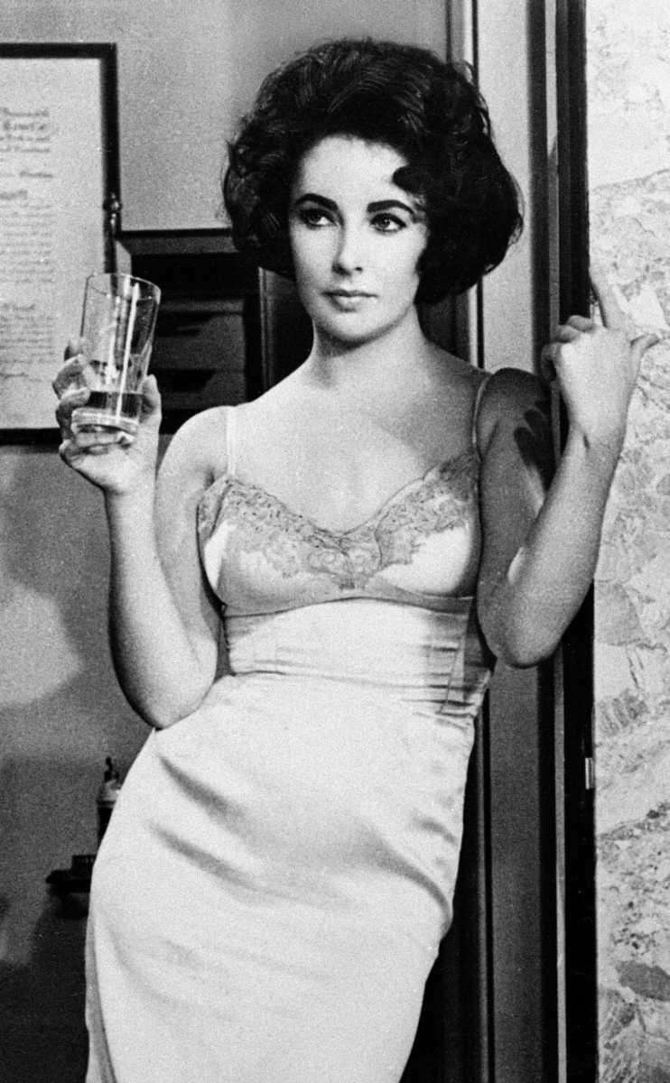 This 1961 photo shows actress Elizabeth Taylor in