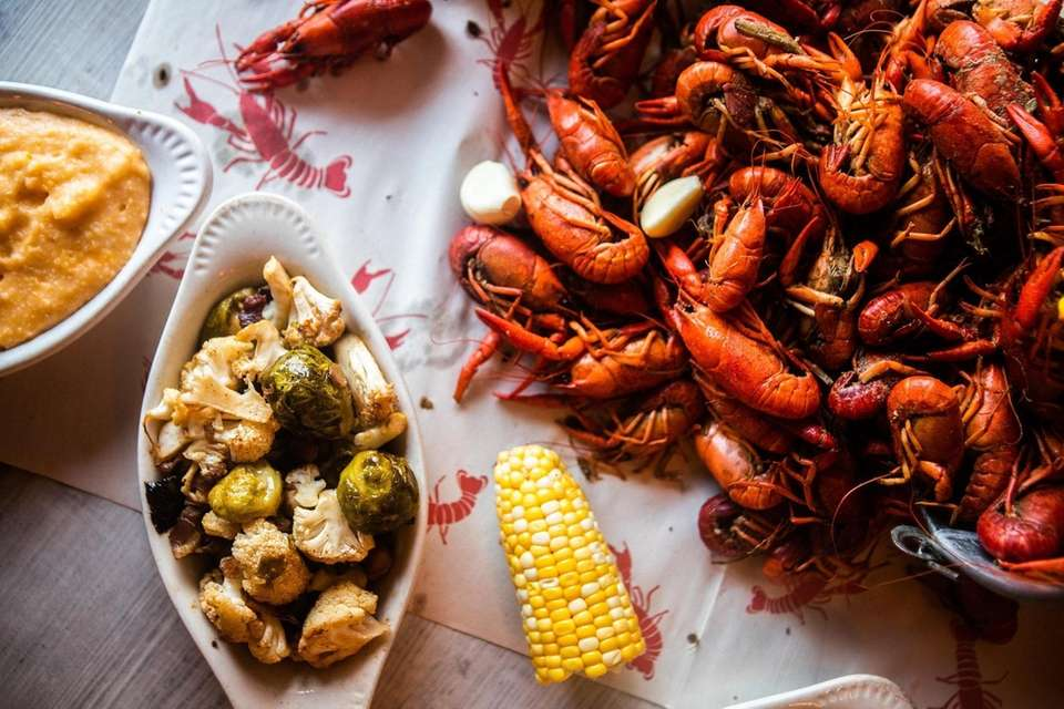 The crawfish boil with a side of bacon