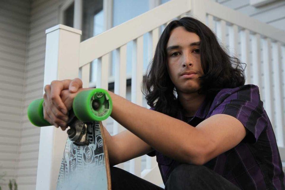 Sam Villanueva, 16, an 11th-grader at Brentwood High