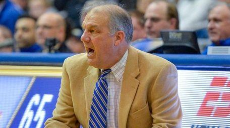 Hofstra head coach Joe Mihalich looks on in