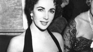 Elizabeth Taylor at a movie premiere in London