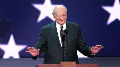 An undated file photo of Ed Koch.