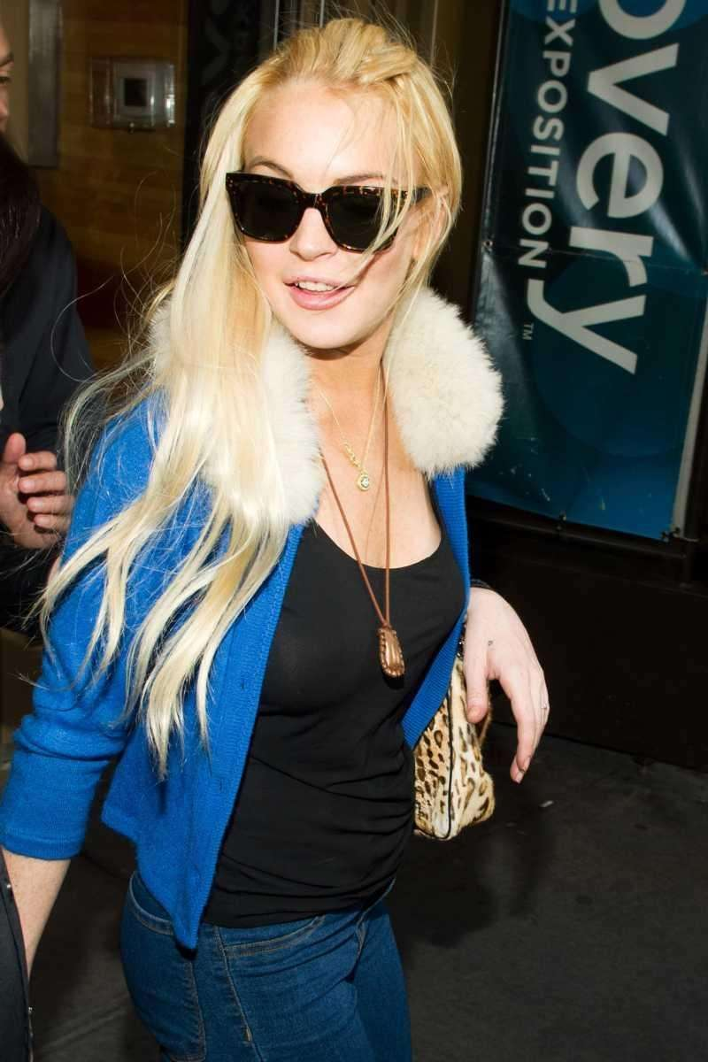 Lindsay Lohan in Times Square earlier this month.