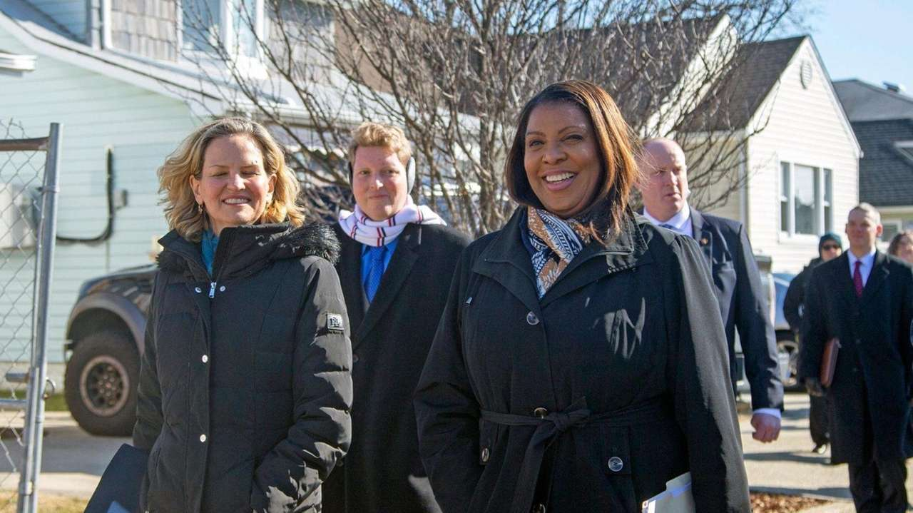 State Attorney General Letitia James on Tuesday in