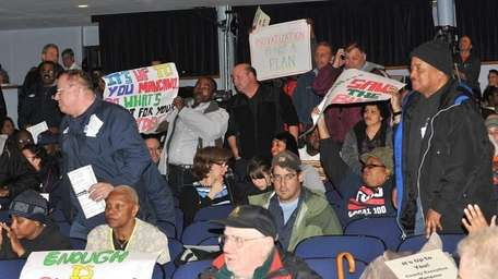 Transit workers, riders and advocates for Long Island